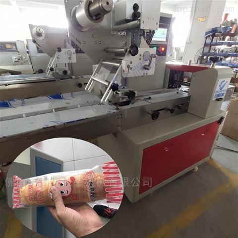 长条面包枕式包装机械,毛毛虫面包包装设备